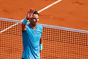 Rafael NADAL (ESP) won the game against Juan Martin DEL POTRO (ARG), celebration during the Roland Garros French Tennis Open 2018, day 13, on June 8, 2018, at the Roland Garros Stadium in Paris, France - Photo Stephane Allaman / ProSportsImages / DPPI