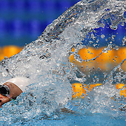 Kylie Palmer, Australia, in action in the Women's 4 x 200m Freestyle Relay Final which the Australian team won the SIlver Medal at the Aquatic Centre at Olympic Park, Stratford during the London 2012 Olympic games. London, UK. 1st August 2012. Photo Tim Clayton