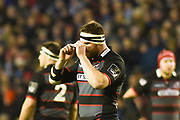 Red card for Simon Berghan during the Guinness Pro 14 2017_18 match between Edinburgh Rugby and Glasgow Warriors at Murrayfield, Edinburgh, Scotland on 23 December 2017. Photo by Kevin Murray.