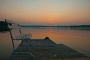 Bench at sunrise