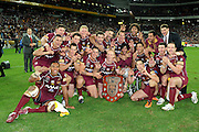 July 6th 2011: Marrons celebrate winning game 3 of the 2011 State of Origin series at Suncorp Stadium in Brisbane, QLD, Australia on July 6, 2011. Photo by Matt Roberts / mattrimages.com.au / QRL