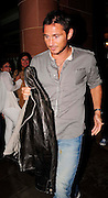 29.JULY.2009 - LONDON<br /> <br /> CHELSEA AND ENGLAND FOOTBALLER FRANK LAMPARD LEAVING CIPRIANI RESTAURANT, MAYFAIR AT 10.30PM AFTER HAVING DINNER WITH SOME FRIENDS AND AS HE LEFT THE RESTAURANT HE HAD HIS JACKET TRYING TO COVER THE FOOD STAINS ON HIS JEANS.<br /> <br /> BYLINE: EDBIMAGEARCHIVE.COM<br /> <br /> *THIS IMAGE IS STRICTLY FOR UK NEWSPAPERS &amp; MAGAZINES ONLY*<br /> *FOR WORLDWIDE SALES &amp; WEB USE PLEASE CONTACT EDBIMAGEARCHIVE - 0208 954 5968*