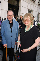Playwright SIR HAROLD PINTER and his wife LADY ANTONIA FRASER at a private view of artist Damian Elwes work 'Artists Studios' held at Scream, 34 Bruton Street, London W1 on 29th June 2006.<br /><br />NON EXCLUSIVE - WORLD RIGHTS