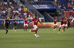August 5, 2018 - Harrison, New Jersey, United States - Derrick Etienne (7) of Red Bulls controls ball during regular MLS game against LAFC at Red Bull Arena Red Bulls won 2 - 1  (Credit Image: © Lev Radin/Pacific Press via ZUMA Wire)