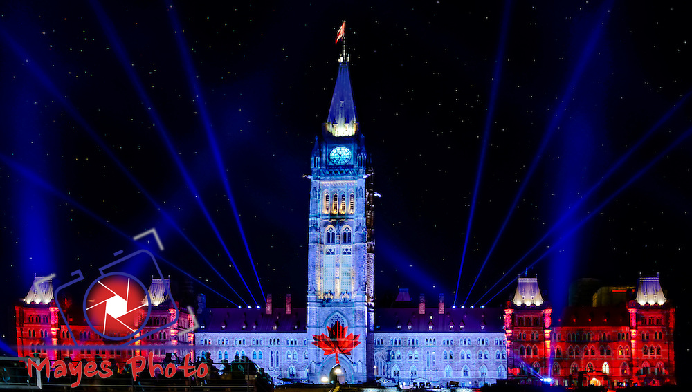 Parliament Light Show, La Lumière spectacle de Parliament