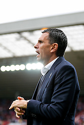 Manager Gustavo Poyet of Sunderland looks on - Photo mandatory by-line: Rogan Thomson/JMP - 07966 386802 - 27/08/2014 - SPORT - FOOTBALL - Sunderland, England - Stadium of Light - Sunderland v Swansea City - Barclays Premier League.