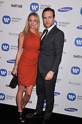 RAFE SPALL and ELIZE DU TOIT at the Warner Music Group Post Brit Awards Party in Association with Samsung held at The Savoy, London on 20th February 2013.
