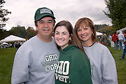 Paul, Natalie, and Karen Pezzenti during Parents Weekend. © Ohio University / Photo by Rick Fatica