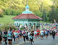 Flying Pig Marathon Runners by the Eden Park Gazebo