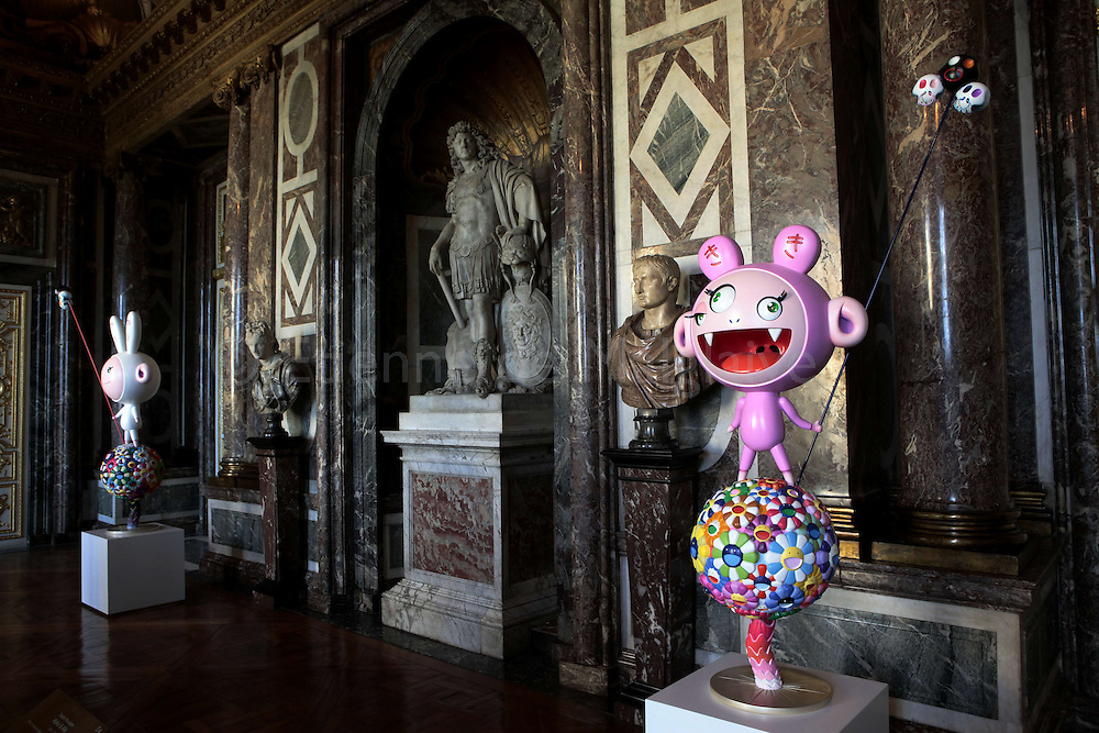 Takashi Murakami featured at the Chateau de Versailles, France. The exhibition of the Japanese artist will open from September 14  2010 until December 12 despite opposition from French traditionalists..13 september 2010.  Etienne de Malglaive