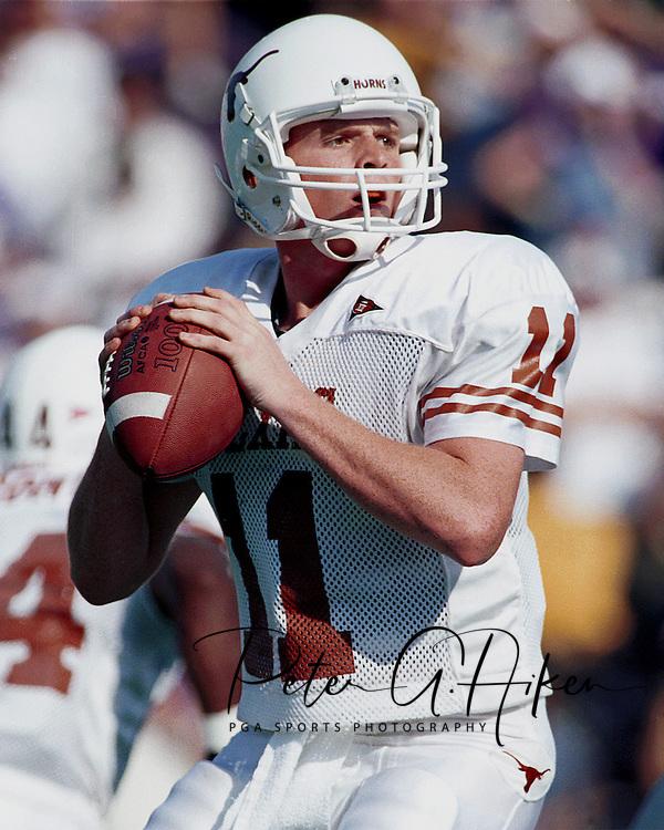 Texas quarterback Major Applewhite during game action against Kansas State at KSU Stadium in Manhattan, Kansas in 1998.