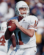 Texas quarterback Major Applewhite during game action against Kansas State at KSU Stadium in Manhattan, Kansas in 1998.