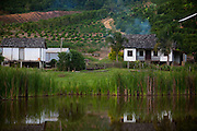 Domingos Martins_ES, Brasil...Fazenda ao lado de trecho da estrada historica denominada Rota Imperial da Estrada Real, antiga estrada Dom Pedro de Alcantra...A farm next to the ancient Rota Imperial, know as Dom Pedro de Alcantara Road...Foto: LEO DRUMOND / NITRO