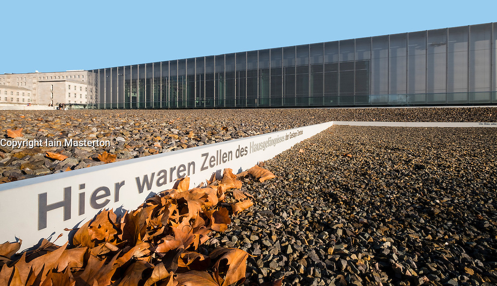 Exterior view of Topography of Terror Museum , former location of Gestapo headquarters , in Berlin, Germany