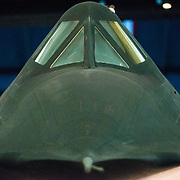 The cockpit of the Lockheed SR-71 Blackbird on display at the Smithsonian National Air and Space Museum's Udvar-Hazy Center. Located near Dulles Airport, the Udvar-Hazy Center is the second public facility of the Smithsonian's National Air and Space Museum. Housed in a large hangar are a multitude of planes, helicopter, rockets, and space vehicles. Please note that due to the low light conditions that this was shot in, it contains some image noise when viewed at large resolutions.