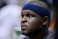 Mar 21, 2016; Phoenix, AZ, USA;  Memphis Grizzlies forward Zach Randolph (50) reacts during a timeout in the game against the Phoenix Suns at Talking Stick Resort Arena. Mandatory Credit: Jennifer Stewart-USA TODAY Sports