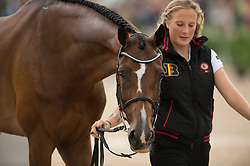 Lara De Liedekerke, (BEL), Ducati van den Overdam - First Horse Inspection  - Alltech FEI World Equestrian Games™ 2014 - Normandy, France.<br /> © Hippo Foto Team - Shannon Brinkman<br /> 25/06/14