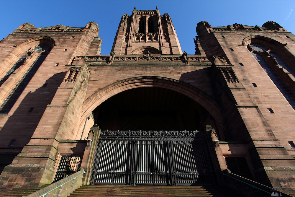 The magnificent Liverpool Cathedral from the outside