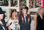 KATHRYN D'HUVERT; TRACY JENKINS; ADAM ANT; BURGIT CUNNINGHAM, Toby Mott exhibition. Haunch of Venison. Burlington Gdns. London. 23 September 2010. -DO NOT ARCHIVE-© Copyright Photograph by Dafydd Jones. 248 Clapham Rd. London SW9 0PZ. Tel 0207 820 0771. www.dafjones.com.