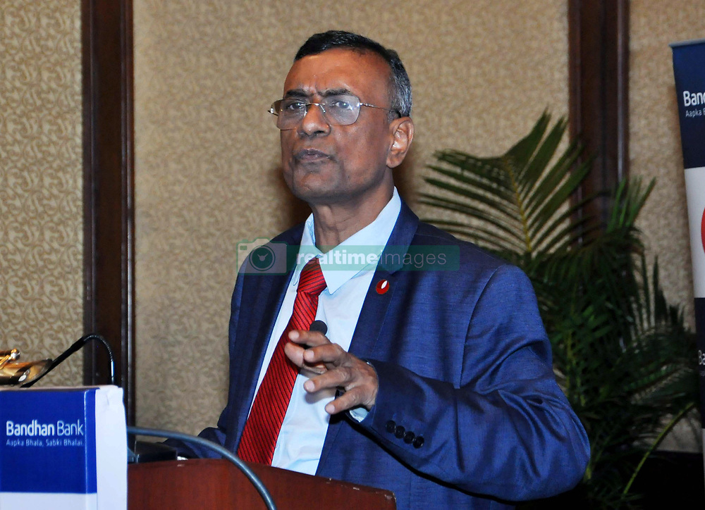July 27, 2017 - Kolkata, West Bengal, India - Founder Managing Director of Bandhan Bank, Chandra Shekhar Ghosh at a press conference. (Credit Image: © Saikat Paul/Pacific Press via ZUMA Wire)