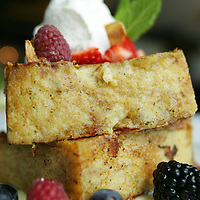 eatz at Hotel Zoso in Palm Springs serves a brioche French toast with berries, caramelized almonds and a cinnamon creme anglaise. The dish is an original creation by executive chef Juan Leon. The restaurant is open from 7 a.m. to 10 p.m. daily. On Sundays from 10 a.m. to 2 p.m., eatz offers an a la carte brunch. Crystal Chatham, The Desert Sun