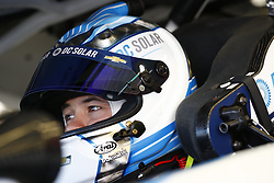 March 2, 2018 - Las Vegas, Nevada, United States of America - March 02, 2018 - Las Vegas, Nevada, USA: Kyle Larson (42) hangs out in the garage during practice for the Boyd Gaming 300 at Las Vegas Motor Speedway in Las Vegas, Nevada. (Credit Image: © Justin R. Noe Asp Inc/ASP via ZUMA Wire)
