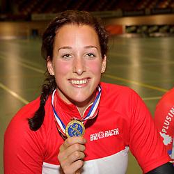 Nationaal kampioenschap Keirin 2014,  Elis Ligtlee wint de finale Keirin in Sportpaleis Alkmaar