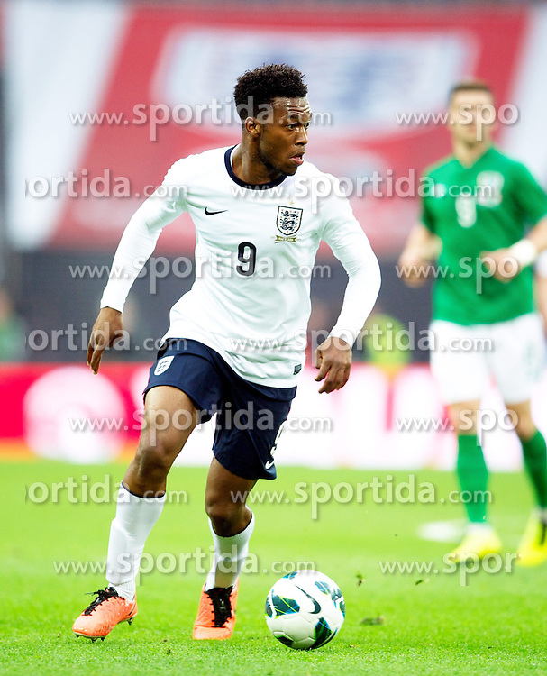 29.05.2013, Wembley Stadion, London, ENG, Testspiel, England vs Irland, im Bild England's Daniel Sturridge in action against Republic of Ireland during during International Friendly Match between England and Republic of Ireland at the Wembley Stadium, London, United Kingdom on 2013/05/29. EXPA Pictures &copy; 2013, PhotoCredit: EXPA/ Propagandaphoto/ David Rawcliffe<br /> <br /> ***** ATTENTION - OUT OF ENG, GBR, UK *****