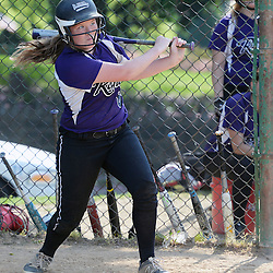 Staff photos by Tom Kelly IV<br /> Upper Darby's Danielle Hotz (8) gets a hit during the Interboro at Upper Darby girls softball game, Friday afternoon.