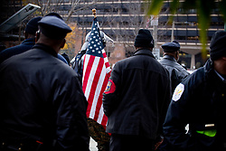 November 17, 2018 - Philadelphia, Pennsylvania, United States - An attendee of the ''We the People'' rally, expected to draw members of far-right groups including the ''Proud Boys'' and attendees of Unite the Right, is urged to return to the designated area on Philadelphia's Independence Mall amid heavy protests, November 17, 2018. (Credit Image: © Michael Candelori/NurPhoto via ZUMA Press)