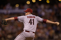 SAN FRANCISCO, CA - JUNE 12:  Daniel Hudson #41 of the Arizona Diamondbacks pitches against the San Francisco Giants during the eighth inning at AT&T Park on June 12, 2015 in San Francisco, California.  The Arizona Diamondbacks defeated the San Francisco Giants 1-0. (Photo by Jason O. Watson/Getty Images) *** Local Caption *** Daniel Hudson
