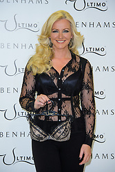 Michelle Mone pose's for Ultimo Photocall. London, United Kingdom. Tuesday, 11th February 2014. Picture by Chris Joseph / i-Images