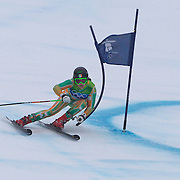 Winter Olympics, Vancouver, 2010.Kirsten McGarry, Ireland, in action in the Alpine Skiing Ladies' Giant Slalom at Whistler Creekside, Whistler,, during the Vancouver Winter Olympics. 24th February 2010. Photo Tim Clayton