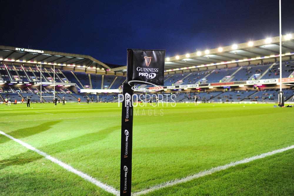 Murrayfield Stadium before the 1872 Cup / Guinness Pro 14 2017_18 match between Edinburgh Rugby and Glasgow Warriors at Murrayfield, Edinburgh, Scotland on 23 December 2017. Photo by Kevin Murray.