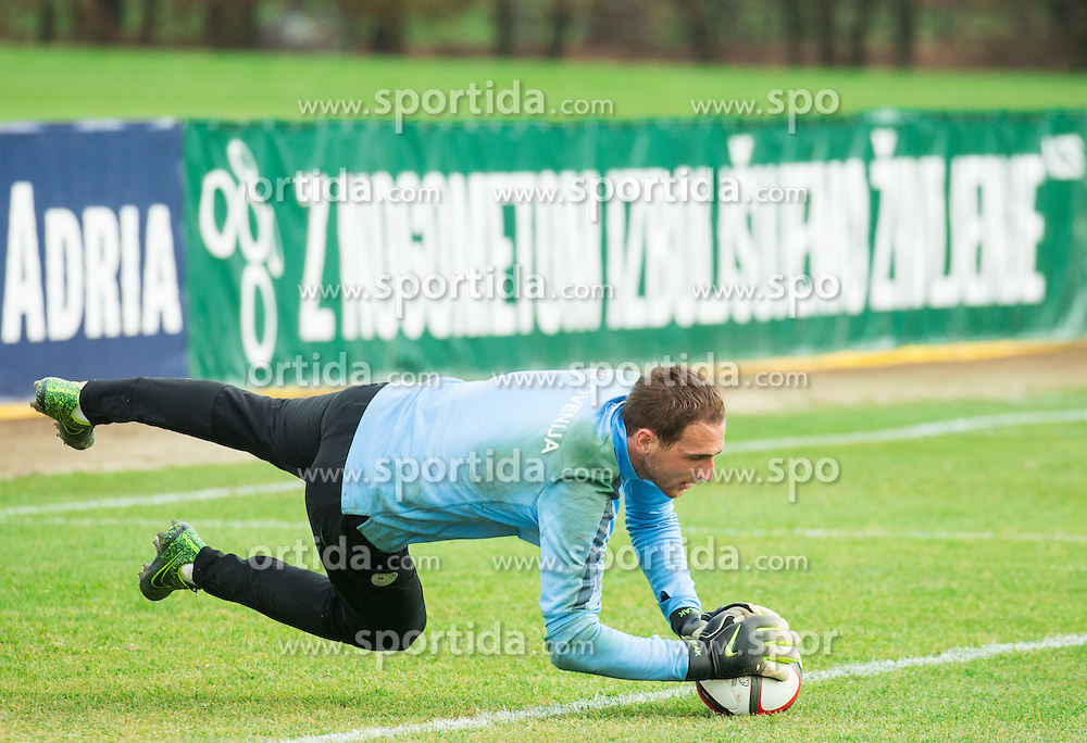 Jan Oblak during practice session of Slovenian Football Team before Euro 2016 Qualifying match against Ukraine, on November 10, 2015 in Football centre Brdo pri Kranju, Slovenia. Photo by Vid Ponikvar / Sportida