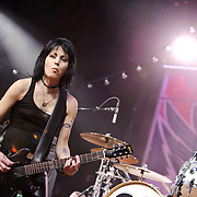 "COLUMBIA, MD - SEPTEMBER 25th, 2010:  Rock legend Joan Jett delighted the 2010 Virgin Mobile FreeFest crowd with a greatest hits set featuring ""Bad Reputation"" and ""I Love Rock n Roll."" (Photo by Kyle Gustafson/For The Washington Post)"