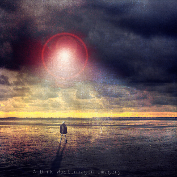 Surreal atmosphere and strange light in the sky.<br /> composing &amp; manipulation