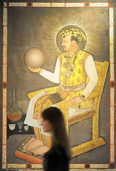 ©London News pictures. FILE PICTURE 31/03/2011. The magnificent portrait the Mughal Emperor Jahangir who reigned from 1605-1627, attributed to Abu'l Hasan, Nadir al-Zaman and dated AH 1026/AD 1617, sold for £1,420,000 at Bonhams Indian and Islamic Sale today, April 5th. It went to a Middle Eastern museum. The sale total was £2.7m. Picture credit should read Stephen Simpson/LNP