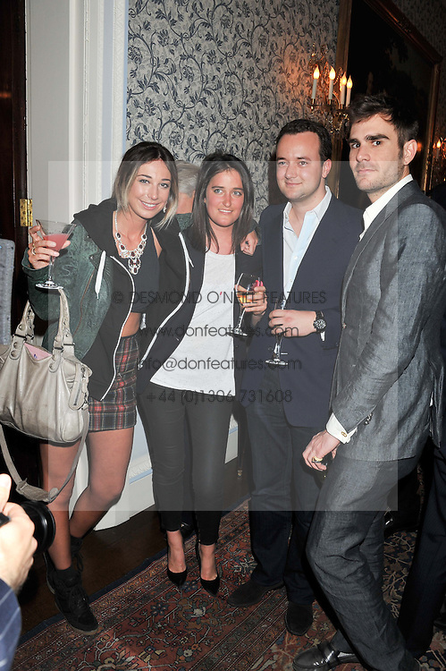 Left to right, LUCY WRIGHT, VIOLET VON WESTENHOLZ, MARQUESS OF BRISTOL and OSCAR HUMPHRIES at Tatler's Jubilee Party in association with Thomas Pink held at The Ritz, Piccadilly, London on 2nd May 2012.