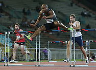 JOHANNESBURG, SOUTH AFRICA - MARCH 22: Antonio Alkana clears the last hurdle in the mens 110m hurdles during the ASA Speed Series 4 at Germiston Stadium on March 22, 2017 in Johannesburg, South Africa. (Photo by Roger Sedres/ImageSA)