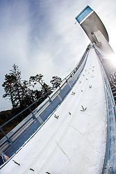 03.01.2014, Bergisel Schanze, Innsbruck, AUT, FIS Ski Sprung Weltcup, 62. Vierschanzentournee, Training, im Bild Feature Bergiselschanze // Feature Bergisel Skijumping Hill during practice Jump of 62nd Four Hills Tournament of FIS Ski Jumping World Cup at the Bergisel Schanze, Innsbruck, <br /> Austria on 2014/01/03. EXPA Pictures © 2014, PhotoCredit: EXPA/ JFK