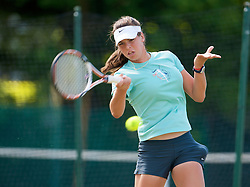 LIVERPOOL, ENGLAND - Tuesday, June 16, 2009: Ajla Tomljanovic (CRO) practices before the Tradition ICAP Liverpool International Tennis Tournament 2009 at Calderstones Park. (Pic by David Rawcliffe/Propaganda)