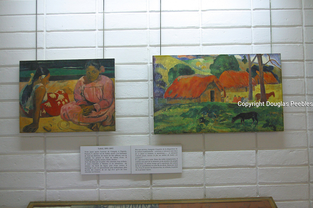 Gauguin Museum and Gardens, Island of Tahiti, French Polynesia<br />