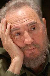 November 26, 2016 - Cuban Politician and Revolutionary FIDEL CASTRO has died at the age of 90, Cuban state television announced on Saturday, ending an era for the country and Latin America. Pictured: Jan 10, 2004; Havana, CUBA; Fidel Alejandro Castro Ruiz (born August 13, 1926) has been the ruler of Cuba since 1959, when, leading the 26th of July Movement, he overthrew the regime of Fulgencio Batista. In the years that followed he oversaw the transformation of Cuba into the first Communist state in the Western Hemisphere. Cuban President FIDEL CASTRO meets with a delegation of South Carolina elected officials and businessmen on Friday January 9, 2004 and into Saturday; their visit was designed to establish agricultural trade with the island nation.   (Credit Image: © Wade Spees/The Charleston Post and Courier/ZUMA Press)