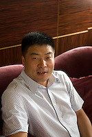 Johnson Ying, CEO of Yingdak leather factory.