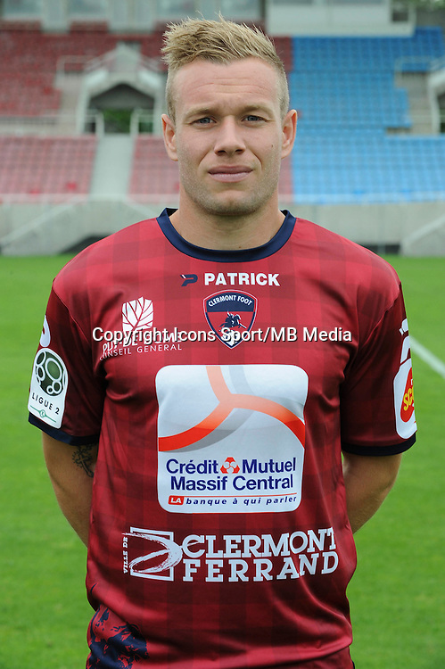 Thibault MOULIN - 30.07.2014 - Portraits officiels Clermont - Ligue 2<br /> Photo : Jean Paul Thomas / Icon Sport
