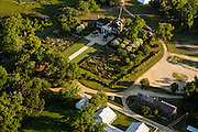 Aerial view of historic Boone Hall Plantation in Mt Pleasant, SC