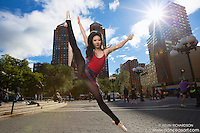 Union Square Ballerina Dance As Art The New York Photography Project featuring ballerina Maya Ho.