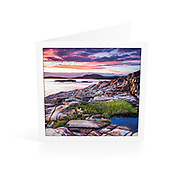 Photo Art Greeting Card | South West Rocks Collection | Autumn Sunrise | Printed on lightly textured matte art paper stock, blank inside. White envelope included, packaged in sealed poly bag. Dimensions: Card 123 x 123mm. Envelope 130 x 130mm.<br />