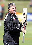 Black Caps coach Andy Moles before the start of play on day 1.<br />New Zealand v West Indies, First Test Match, National Bank Test Series, University Oval, Dunedin, Thursday 11 December 2008. Photo: Andrew Cornaga/PHOTOSPORT